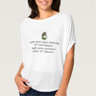 Camiseta De la fe cruz superior de la flor del brezo w/Blue