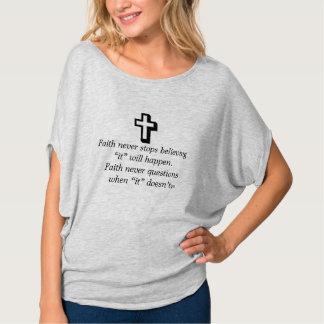 Camiseta De la fe cruz superior del brezo w/Shadow nunca