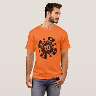 Camiseta de la ficha de póker de Corsa de los