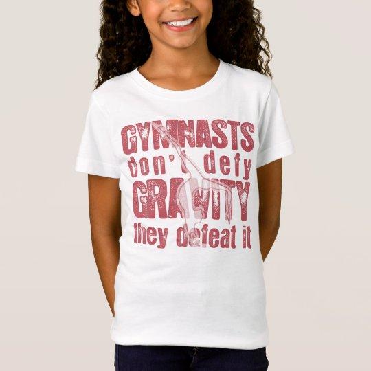 Camiseta de la gimnasia de los niños