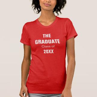 Camiseta de la graduación de las mujeres