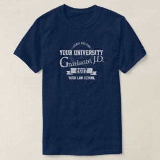 Camiseta de la graduación del diplomado de colegio
