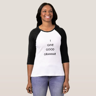 Camiseta de la gramática