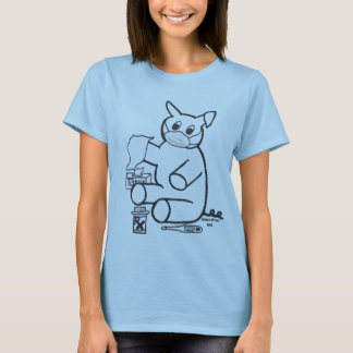 Camiseta de la gripe de los cerdos