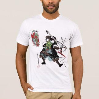 Camiseta de la guitarra del samurai de la roca