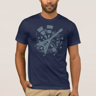 Camiseta de la guitarra del vuelo V