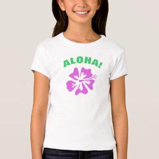 Camiseta de la hawaiana con la flor hawaiana del
