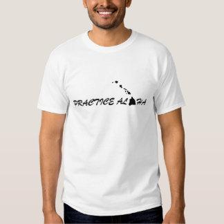 Camiseta de la hawaiana de la práctica