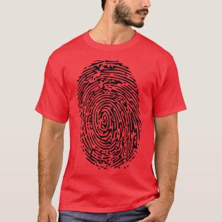 Camiseta de la huella dactilar
