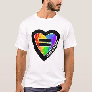 Camiseta de la igualdad de la boda del corazón del