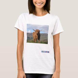 Camiseta de la imagen de Bull de la montaña