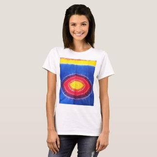 Camiseta de la impresión del batik de las señoras