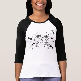 Camiseta de la impresión del dogo