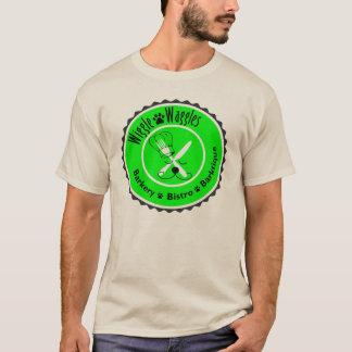 Camiseta de la insignia del cocinero del perrito