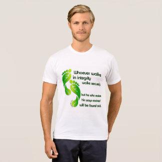 Camiseta de la integridad de los proverbios