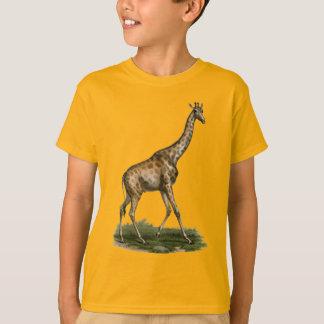 Camiseta de la jirafa para los amantes jovenes de