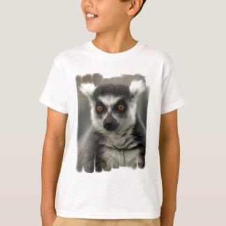 Camiseta de la juventud de la cara del Lemur