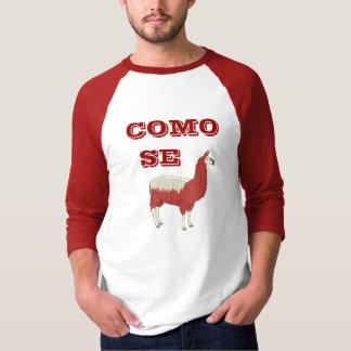 Camiseta de la LLAMA del SE de COMO