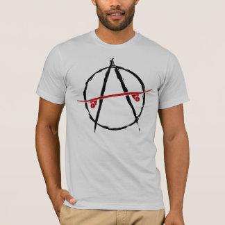 camiseta de la luz de la anarquía del patín