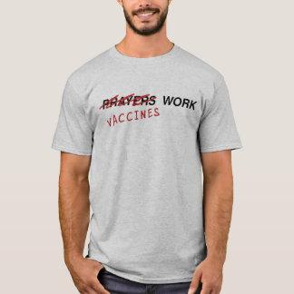Camiseta de la luz del trabajo de las vacunas