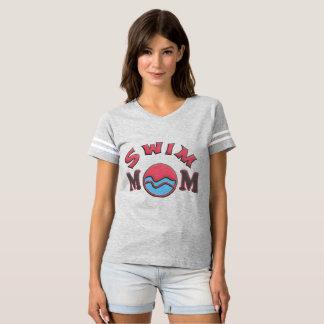 Camiseta de la mamá de la nadada