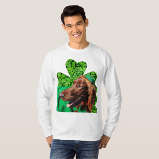 Camiseta de la manga de LG de los hombres de Irish