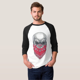 Camiseta de la manga del cráneo 3/4 de Banadana de