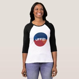 Camiseta de la manga del logotipo de Uffizi