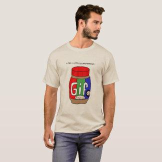 Camiseta de la mantequilla de cacahuete del GIF