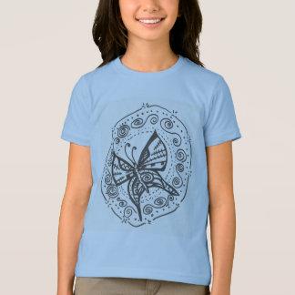 Camiseta de la mariposa del chica