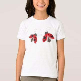 Camiseta de la mariquita para los niños
