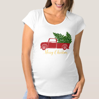 Camiseta de la maternidad del camión del árbol de