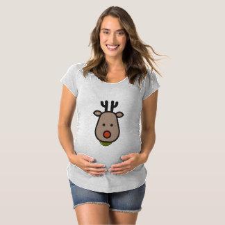 Camiseta de la maternidad del navidad del reno