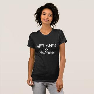Camiseta de la melanina y del rimel