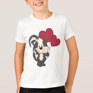 Camiseta de la mofeta del el día de San Valentín