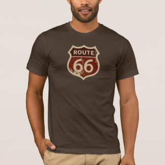 Camiseta de la MUESTRA de BROWN de la RUTA 66 de