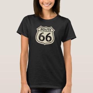 Camiseta de la MUESTRA del BEIGE de la RUTA 66 de