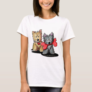Camiseta de la muñeca del dúo de Terrier de mojón