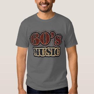 Camiseta de la música de los años 60 del vintage