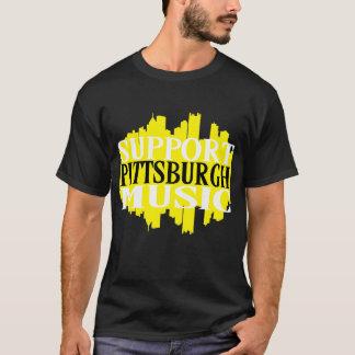Camiseta de la música de Pittsburgh de la ayuda