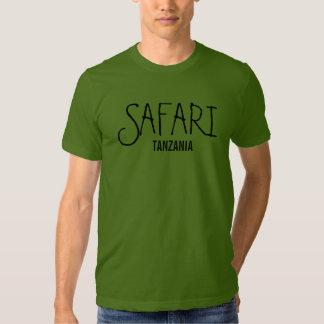 Camiseta de la nuez de Tanzania del safari