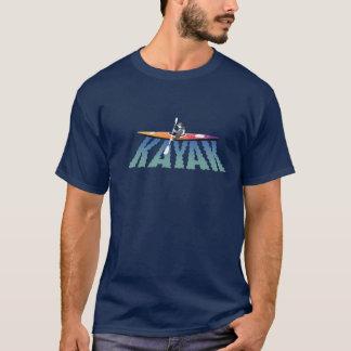 Camiseta de la ondulación del kajak