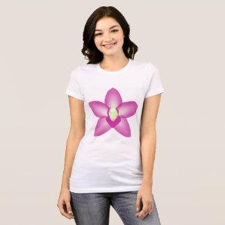 Camiseta de la orquídea de Singapur