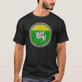 Camiseta de la oscuridad de la insignia de la