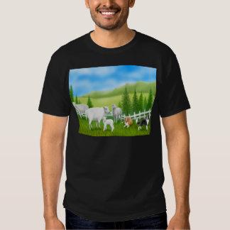 Camiseta de la oscuridad de los borderes collies