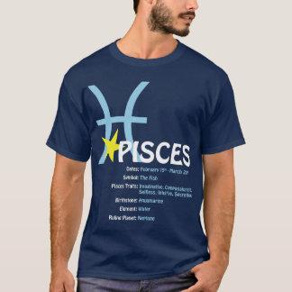 Camiseta de la oscuridad de los rasgos de Piscis
