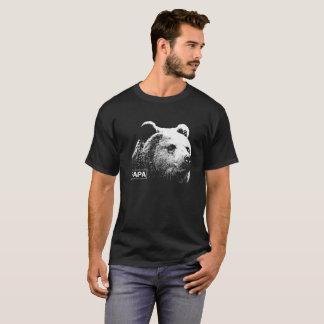Camiseta de la oscuridad del grisáceo del oso de