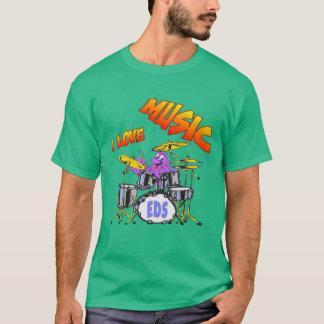Camiseta de la oscuridad del hombre del pulpo de