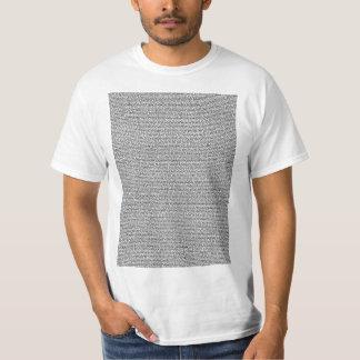 Camiseta de la oscuridad del texto de cuerpo de la