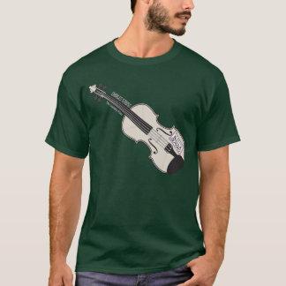 Camiseta de la oscuridad del violín del MES del